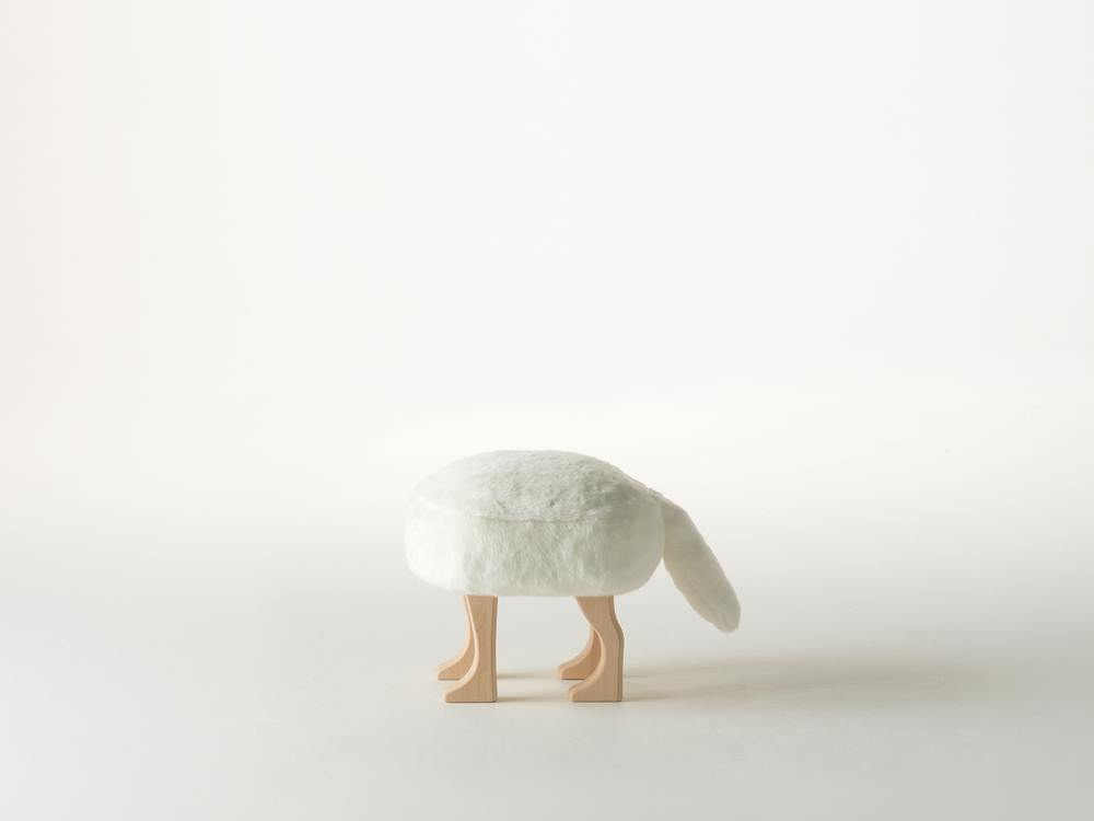 【匠工芸】アニマルスツール フォックスホワイト S【受注生産商品】