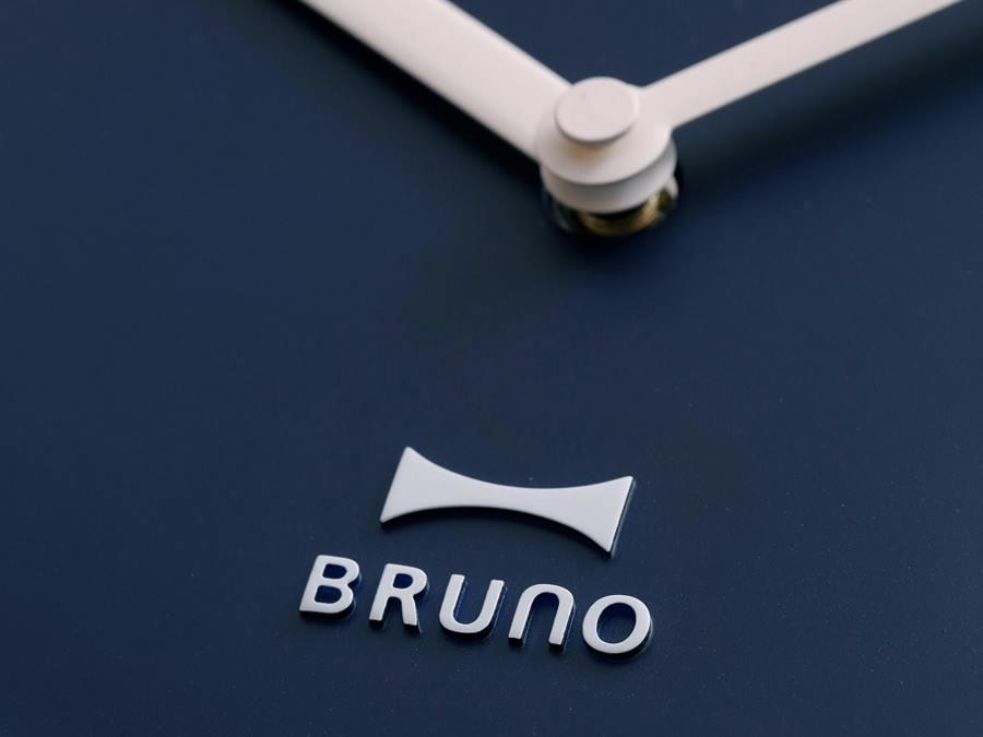 【BRUNO】エンボスウォールクロック ホワイト