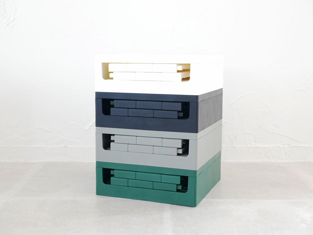 【Grid container】 グリッドコンテナー  キューブ グレー