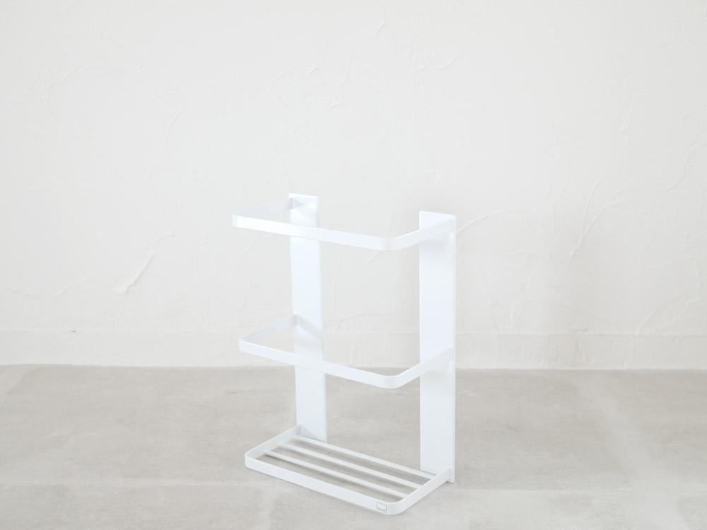 【MIST】マグネットバスルーム折り畳み風呂蓋ホルダー ホワイト