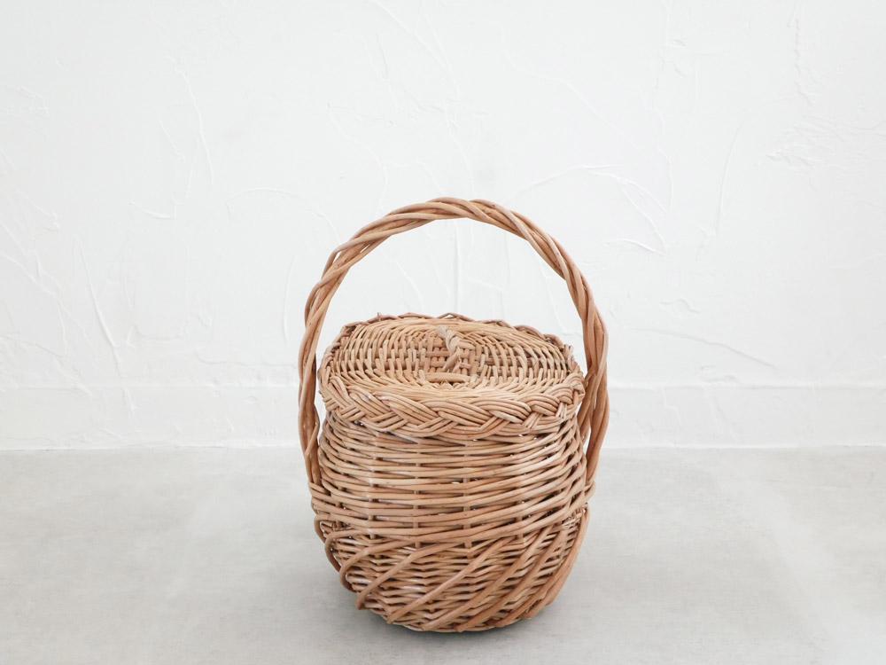 【予約販売10月上旬入荷予定】【POSH LIVING】ウィッカーバスケット 10584