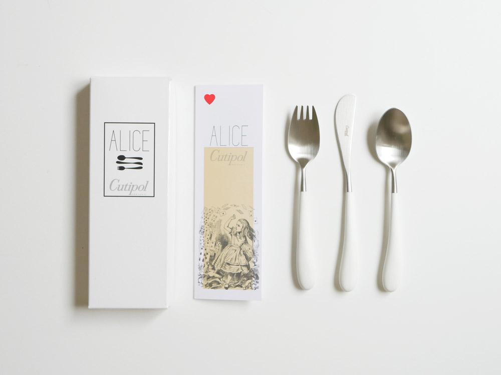 【Cutipol】 Alice セット /ホワイト×シルバー