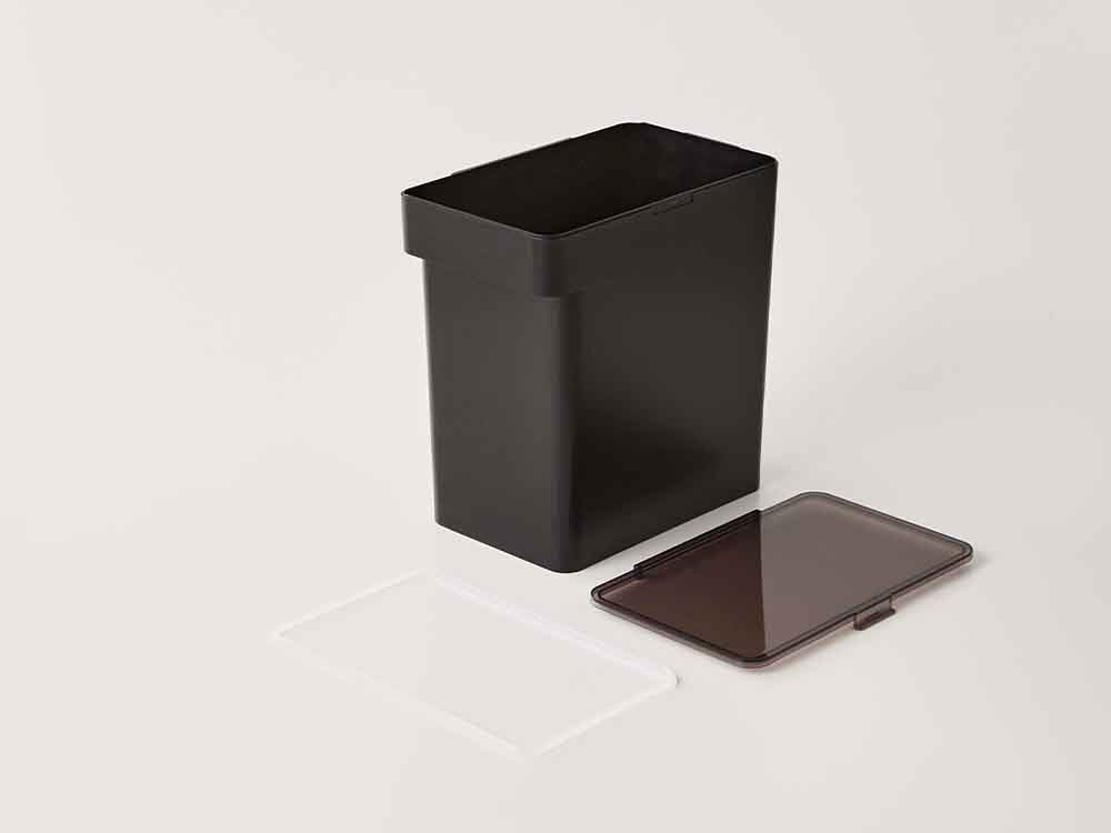 【tower】密閉米びつ 10kg 計量カップ付 ブラック
