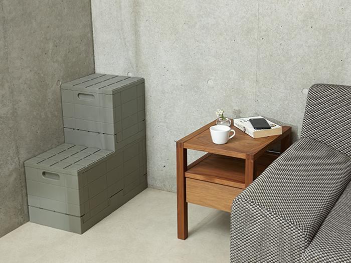【Grid container】 グリッドコンテナー  グレー