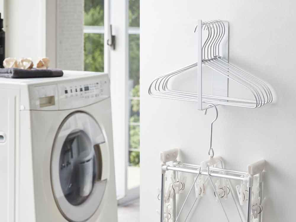 【tower】マグネット洗濯ハンガー収納ラック S ホワイト