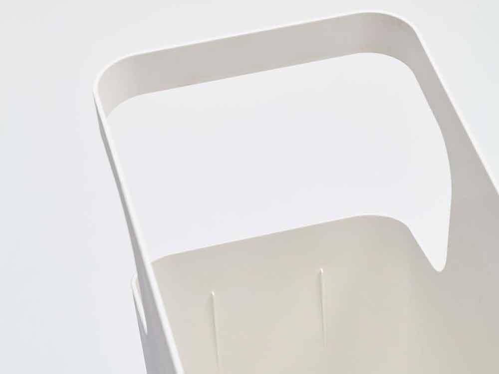 【tower】ダストボックス&サイドテーブル ホワイト