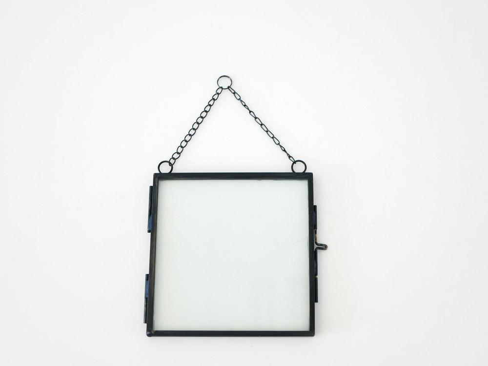 【POSH LIVING】ガラスフレーム  スクエア ブラック