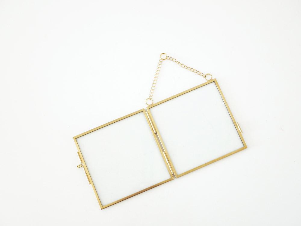 【POSH LIVING】ガラスフレーム  スクエア ゴールド