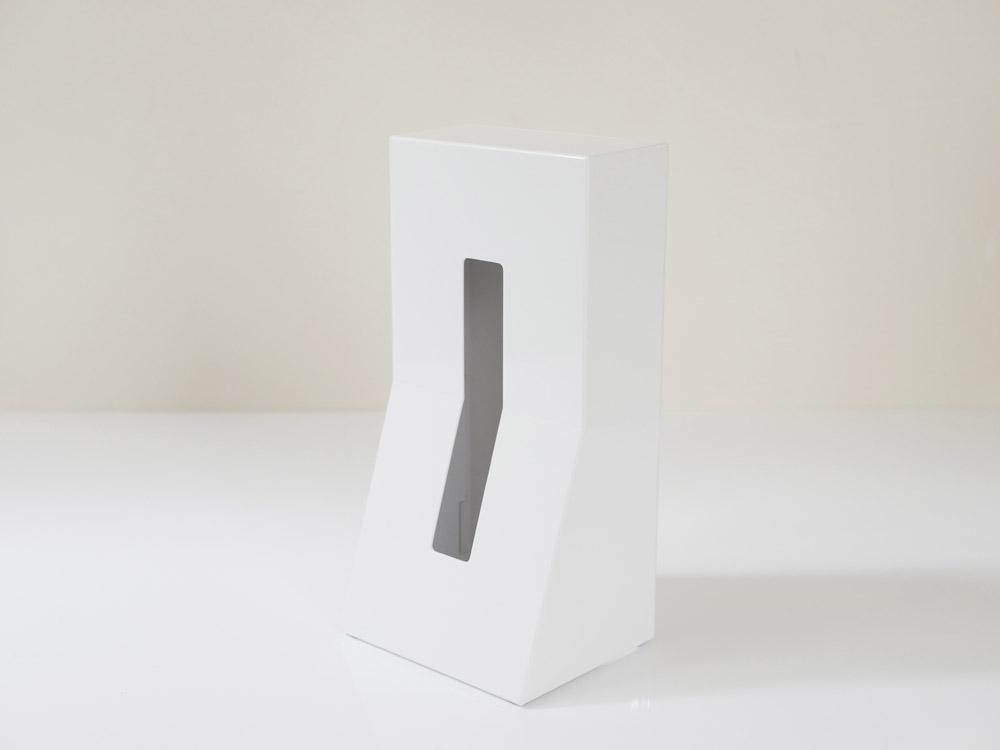 【DUENDE】縦置きティッシュスタンド/ホワイト