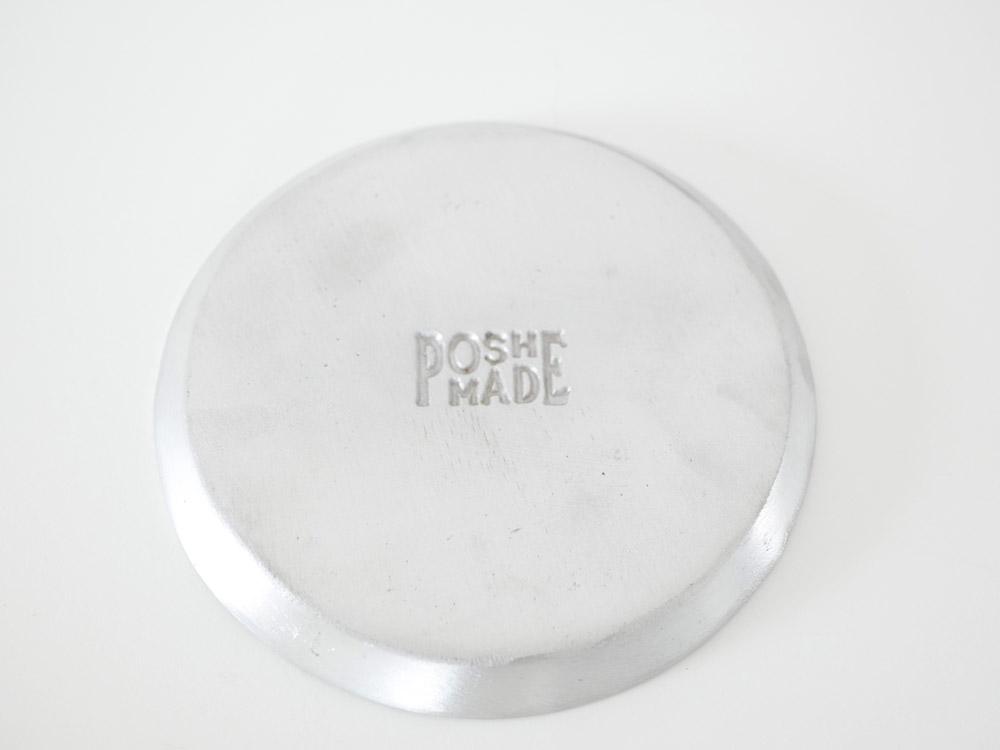 【POSH LIVING】ラウンドプレート/シルバー