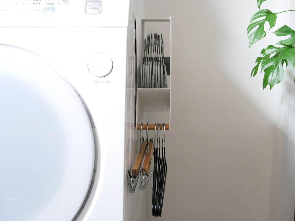 【tosca】洗濯機横マグネットハンガーホルダー ホワイト