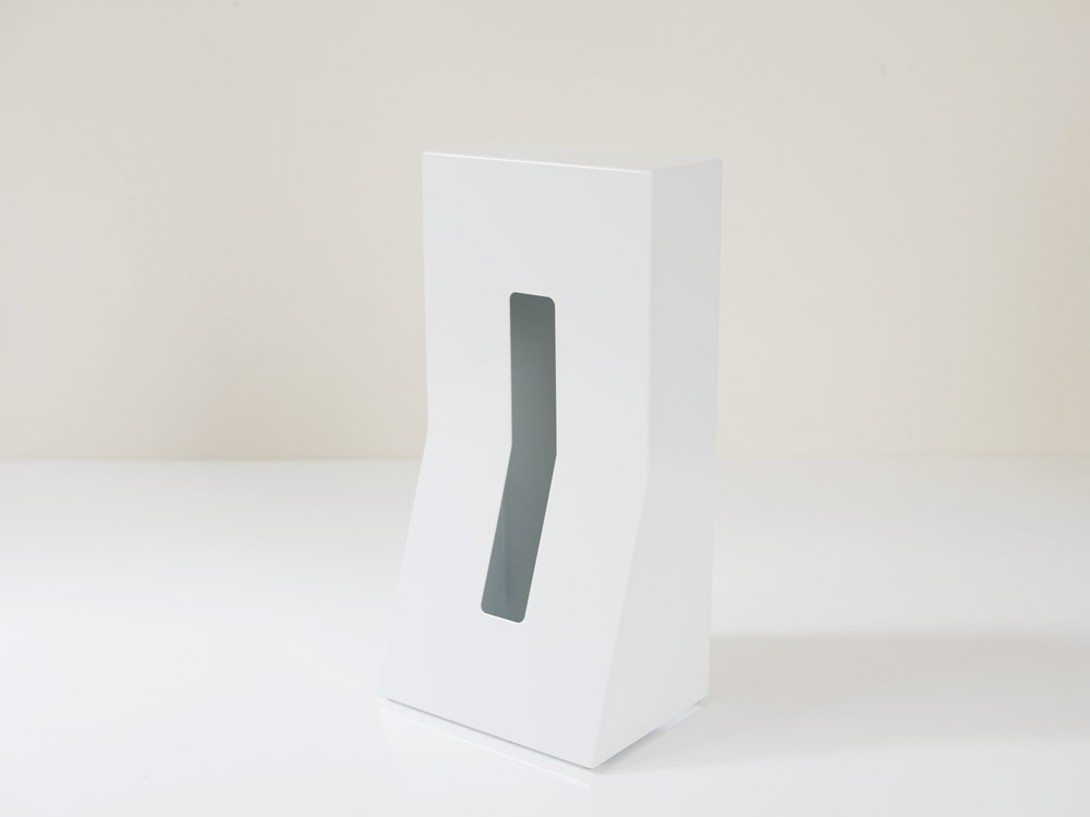 【DUENDE】縦置きティッシュスタンド STEEL /ホワイト