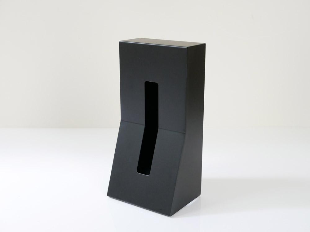 【DUENDE】縦置きティッシュスタンド STEEL /ブラック