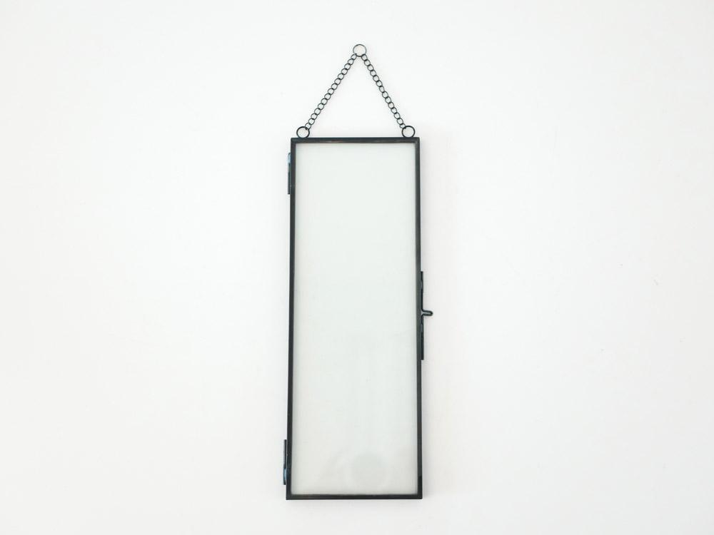 【POSH LIVING】ガラスフレーム  オブロング ブラック