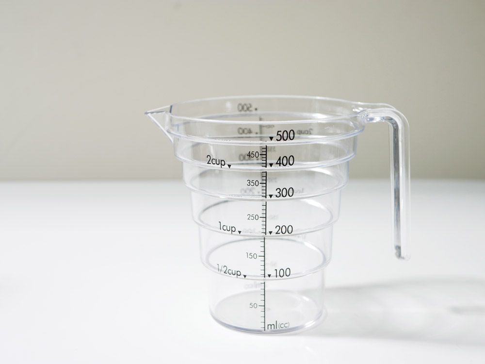 【LAYER】段々計量カップ 500ML クリア