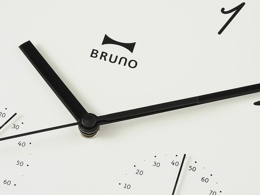 【BRUNO】ウッド温湿ウォールクロック ナチュラルウッド