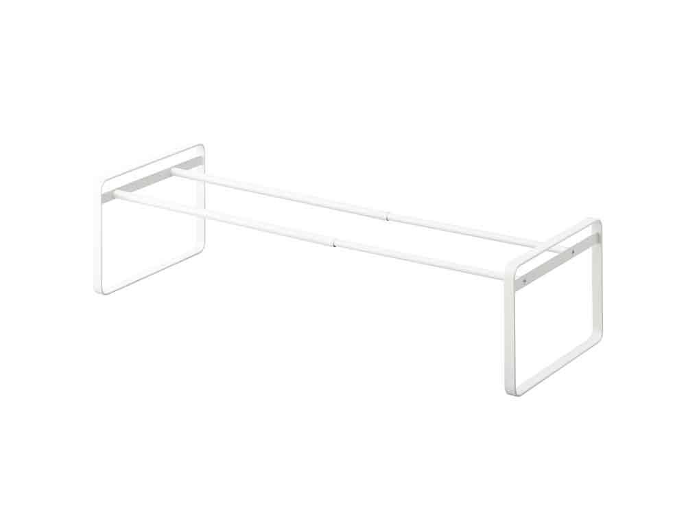 【frame】伸縮シューズラック ホワイト