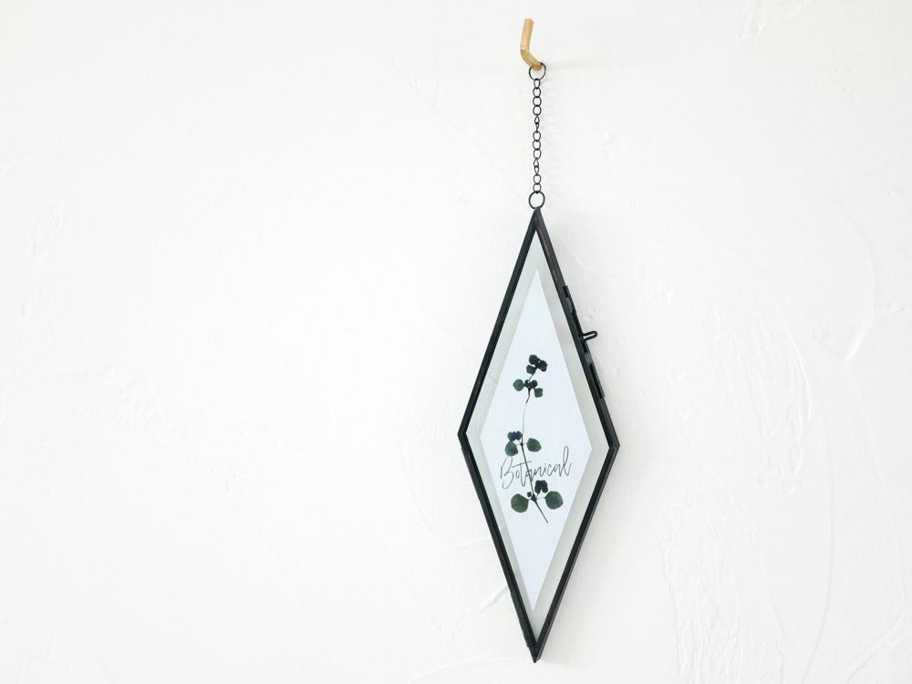 【POSH LIVING】ガラスフレーム  ダイヤ ブラック
