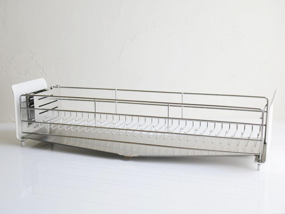 【UtaU】水切りラック ロング ピュアホワイト