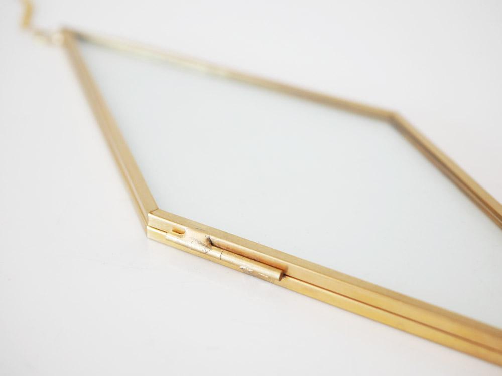 【POSH LIVING】ガラスフレーム  ダイヤ  ゴールド