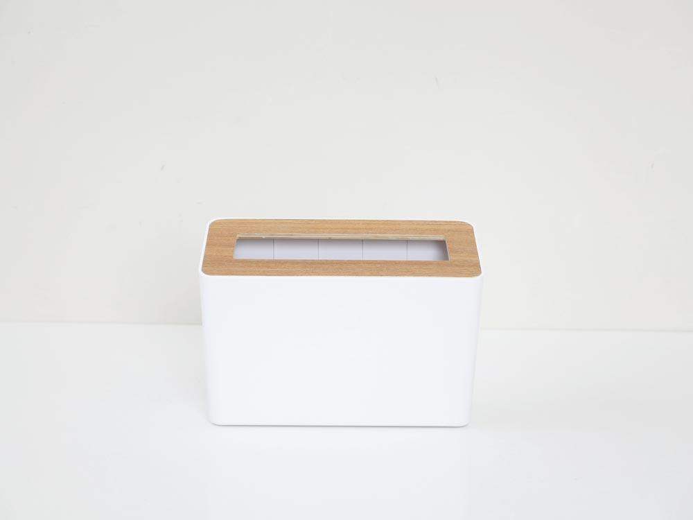 【RIN】蓋付き卓上ゴミ箱 ナチュラル