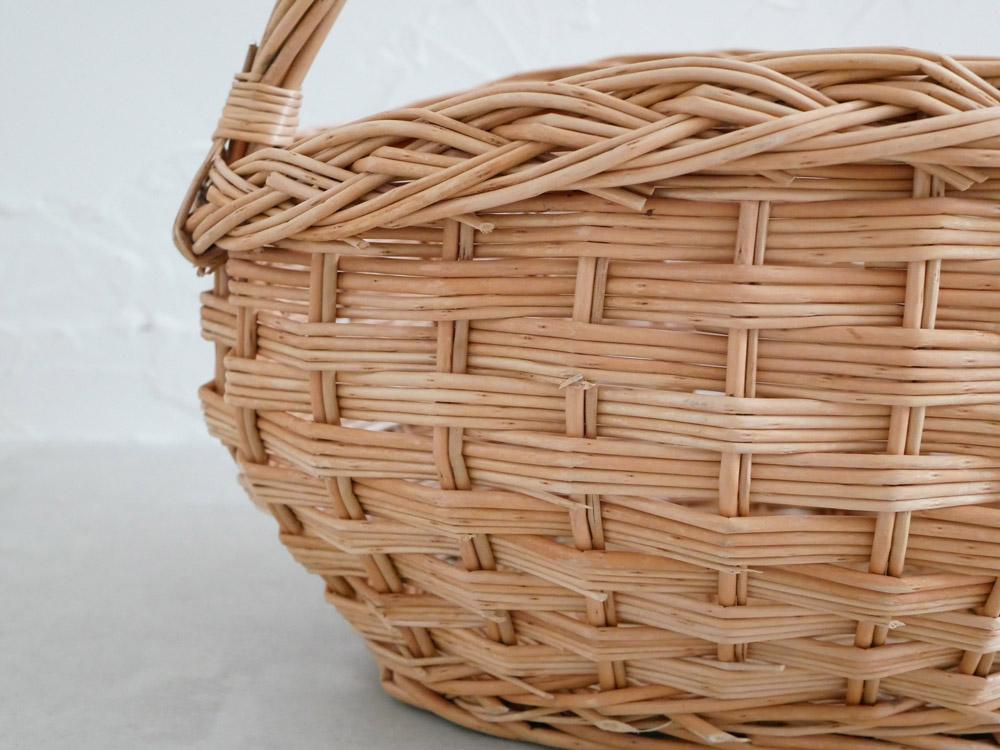 【予約販売10月下旬入荷予定】【POSH LIVING】ウィッカーバスケット オーバル 10575