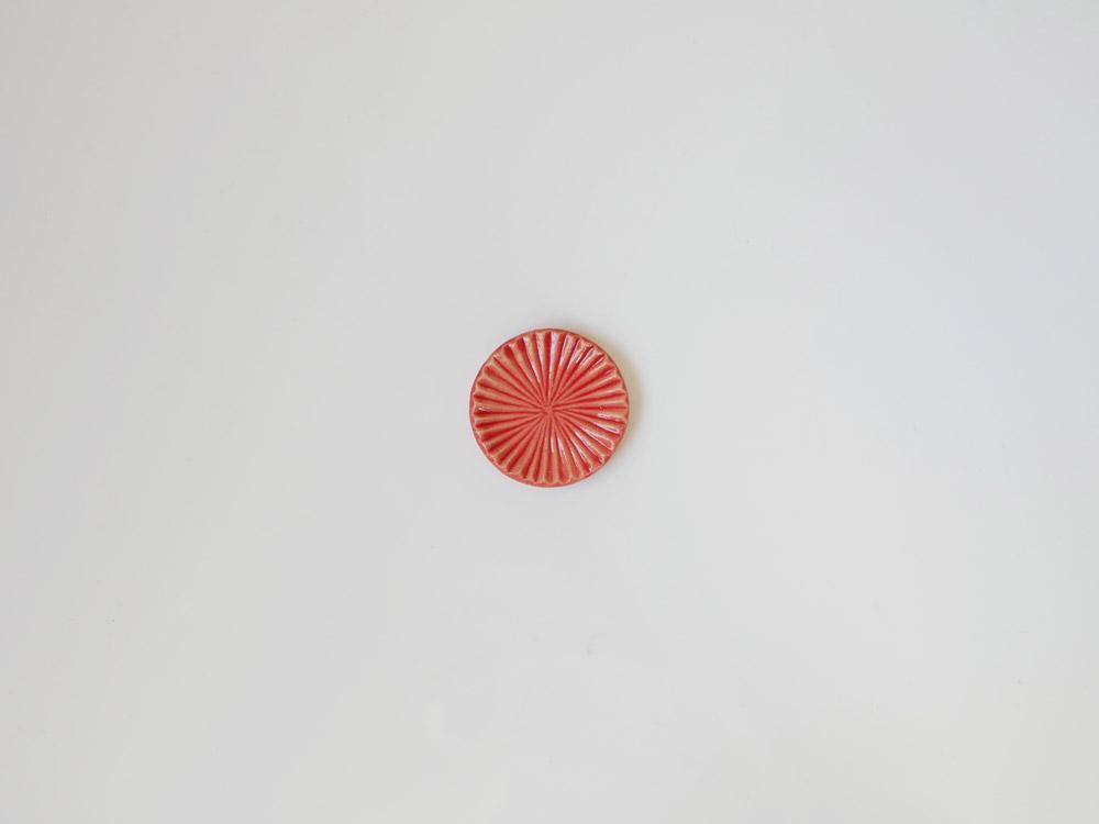 【俊峰陶苑】花あかり 丸箸置/あかね