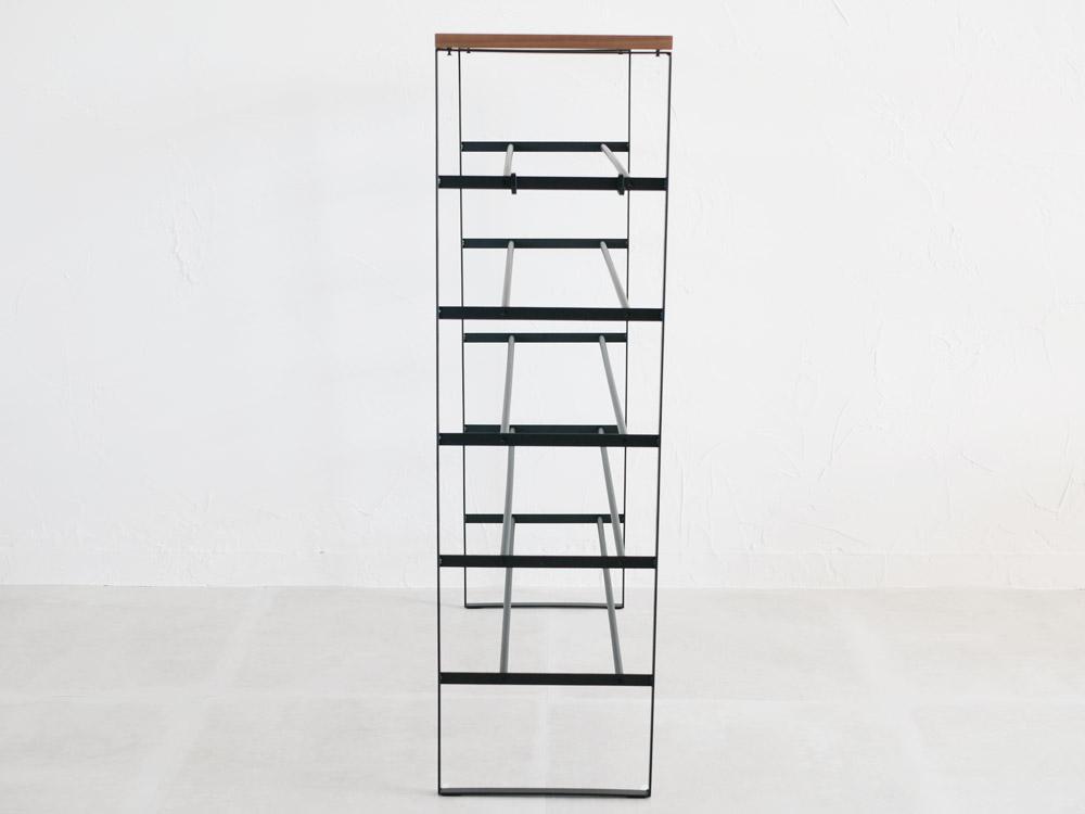 【tower】天板付きシューズラック 6段 ブラック