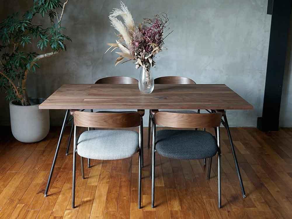 【adepeche】 welme ダイニングテーブル 1350 ウォルナット【受注生産品・メーカー直送・代引き不可商品】