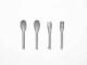 【ideaco】b fiber cutlery 2+2pcs アッシュグレー