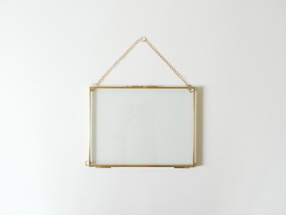 【POSH LIVING】ガラスフレーム  レクトS ゴールド