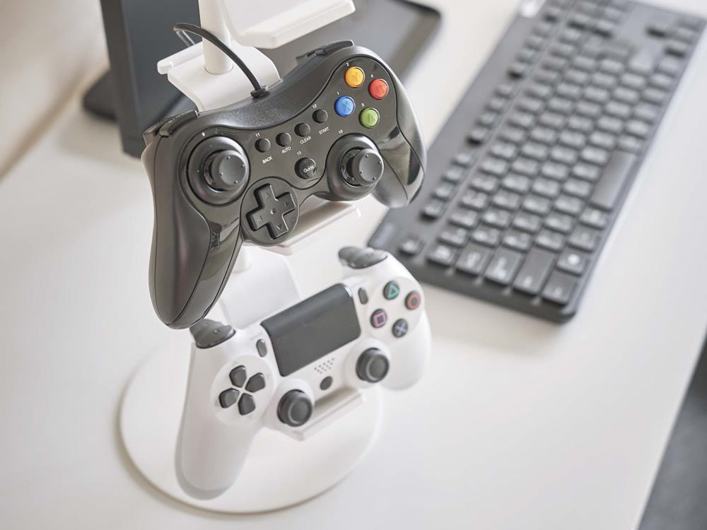 【smart】ゲームコントローラー収納ラック ホワイト