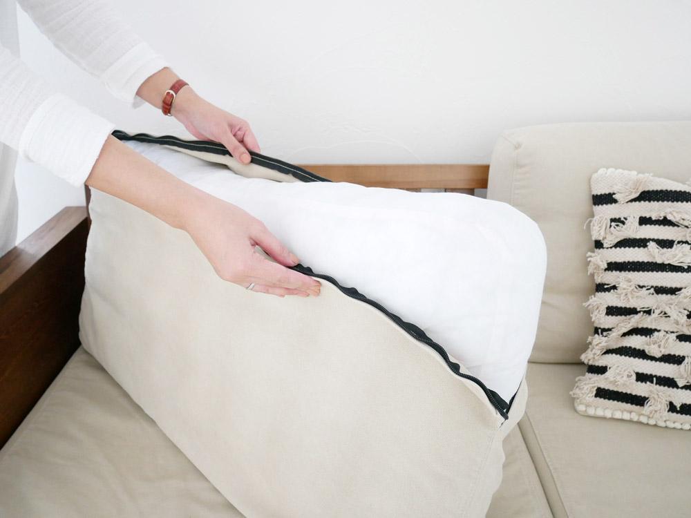 【adepeche】modage ソファ fabric/ベージュ【受注生産品・メーカー直送・代引き不可商品】