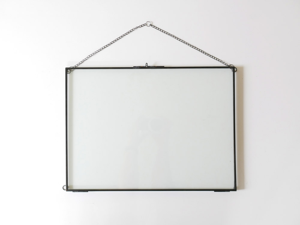 【POSH LIVING】ガラスフレーム  レクトL ブラック