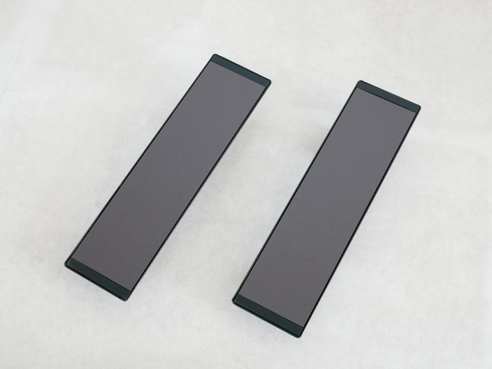 【tower】マグネットバスルーム物干し竿ホルダー 2個組 ブラック