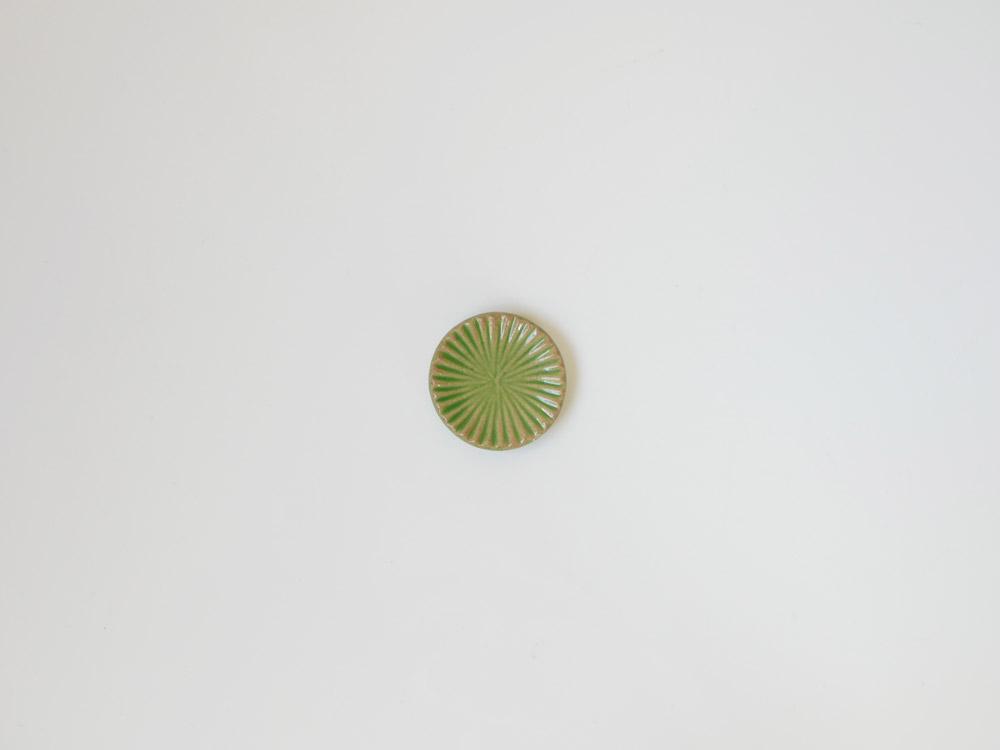 【俊峰陶苑】花あかり 丸箸置/ゆずりは