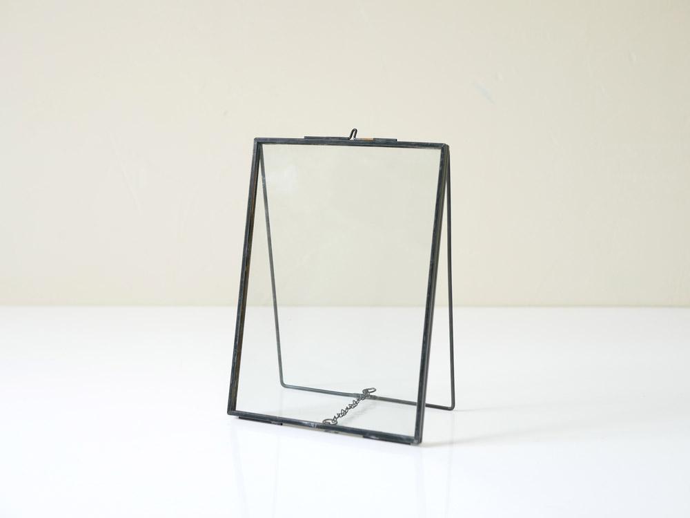 【POSH LIVING】 ガラスフレーム  スタンドシングル  ブラック