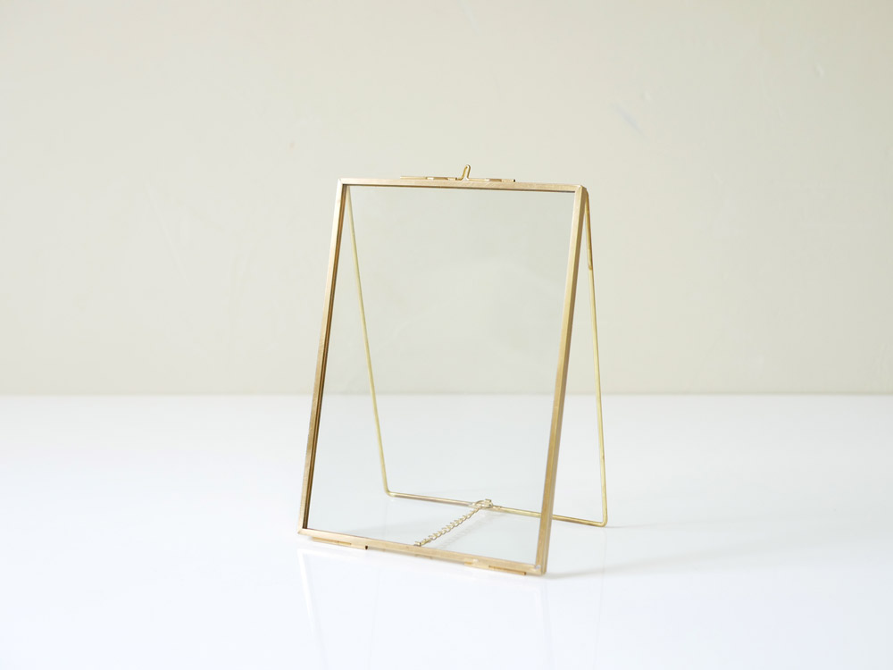 【POSH LIVING】 ガラスフレーム  スタンドシングル  ゴールド