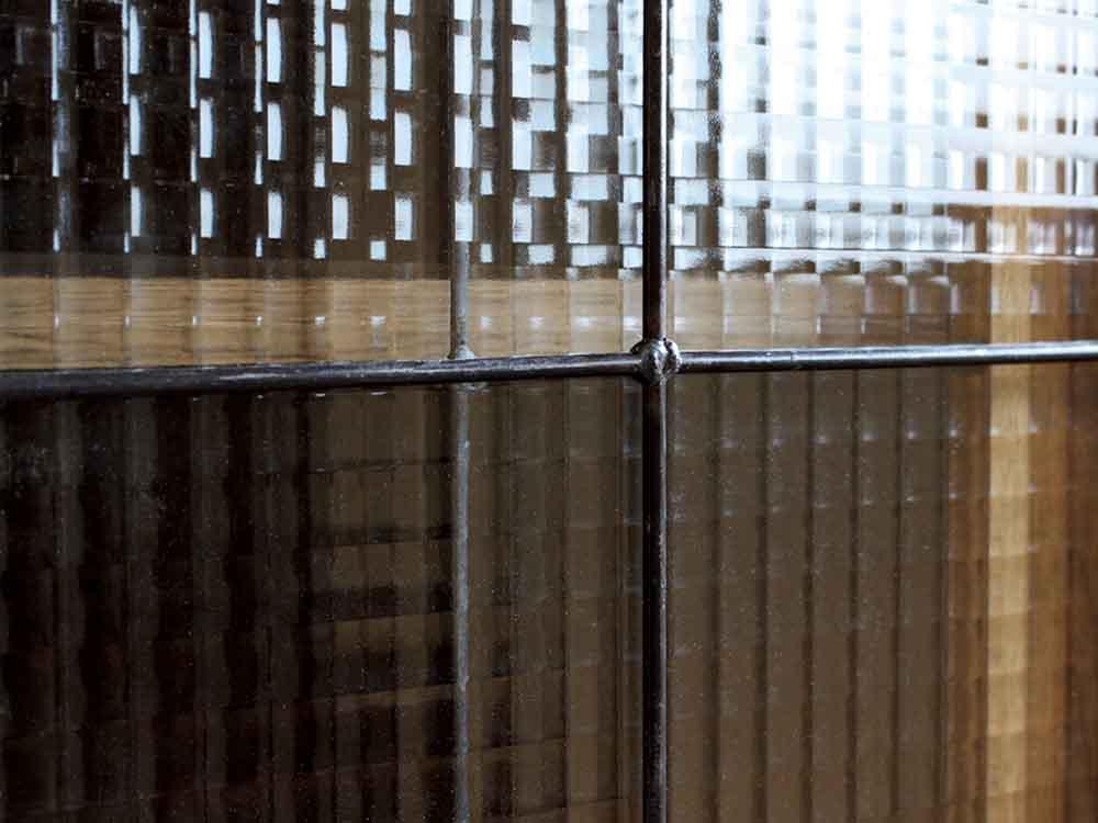 【adepeche】cadeal スライドガラスキャビネット low【受注生産品・メーカー直送・代引き不可商品】