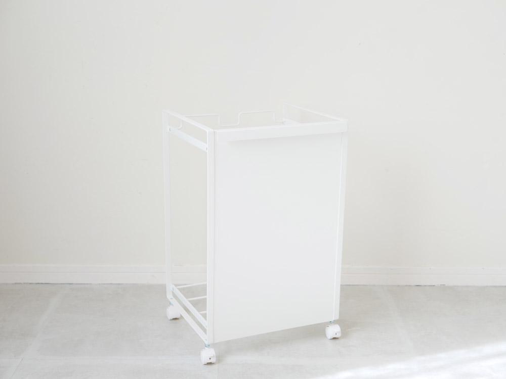 【tower】目隠し分別ダストワゴン 2分別/ホワイト
