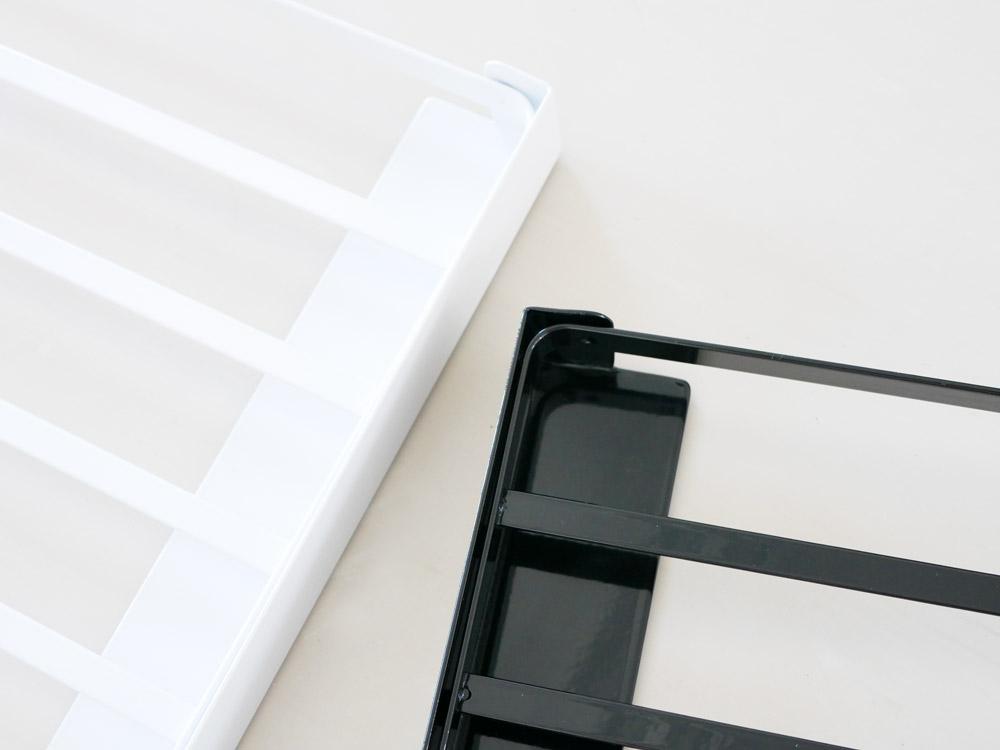 【tower】洗濯機横マグネット折り畳み棚 ホワイト