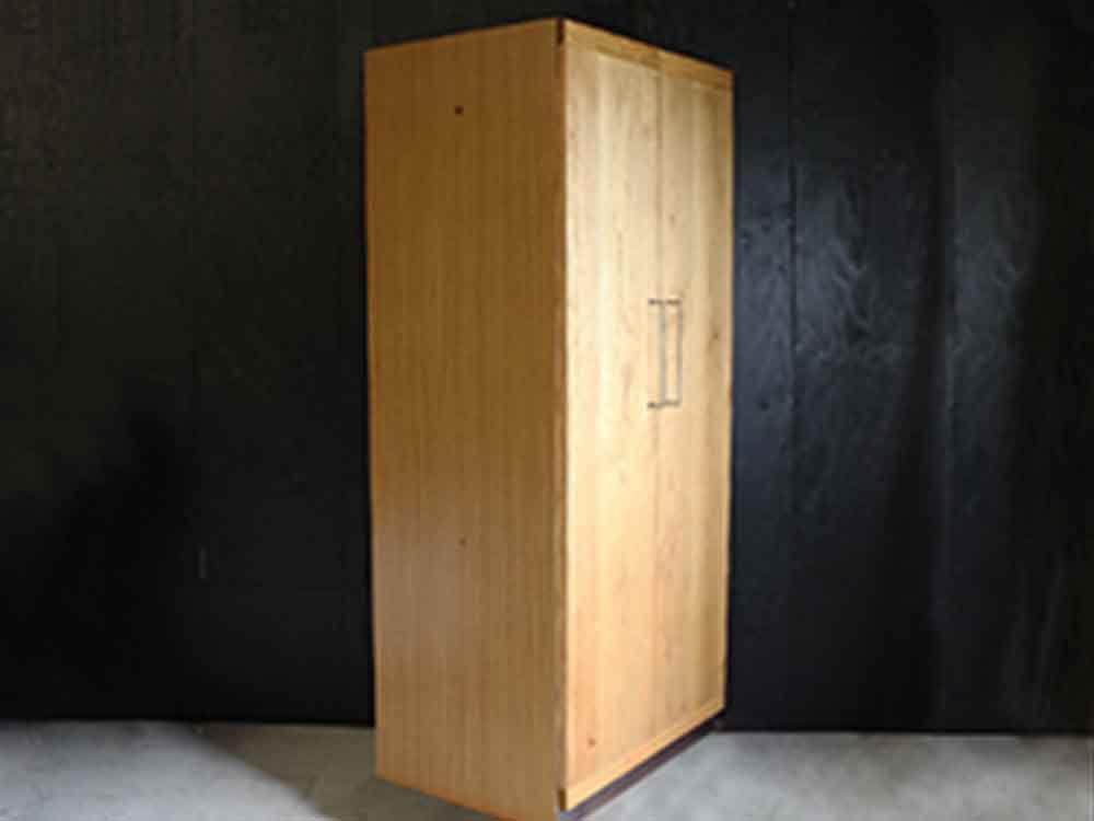 【adepeche】cadeal ワードローブ 2ドア/ウッドボードタイプ【受注生産品・メーカー直送・代引き不可商品】