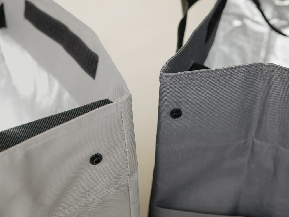 【b2c】レジカゴバッグ 保冷タイプ ライトグレー