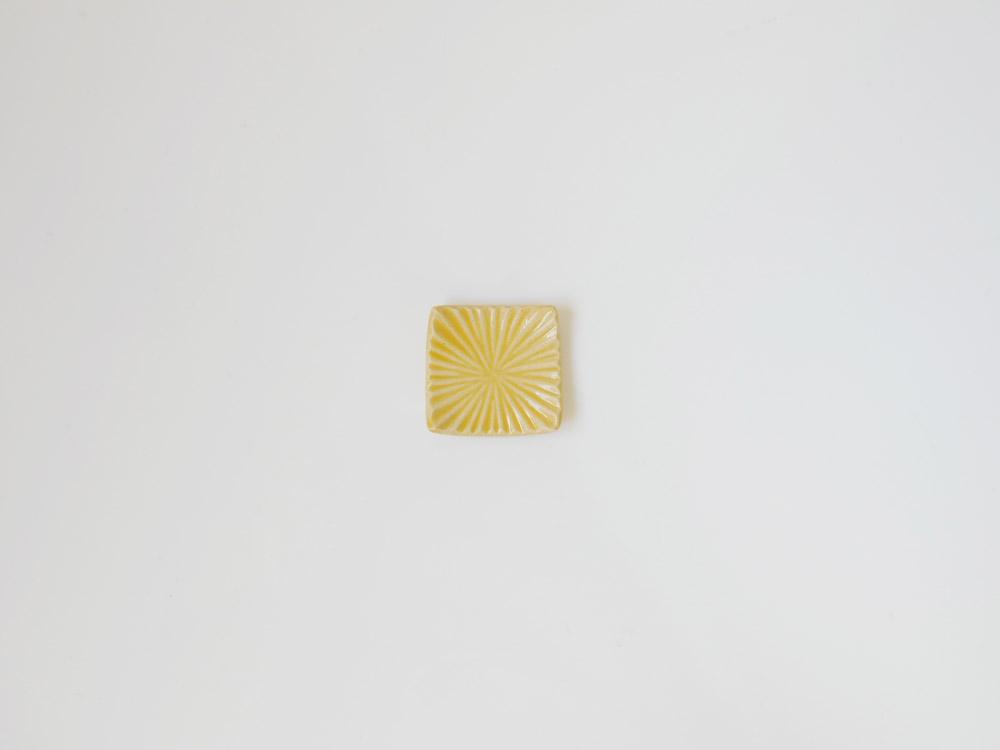 【俊峰陶苑】花あかり 角箸置/たんぽぽ
