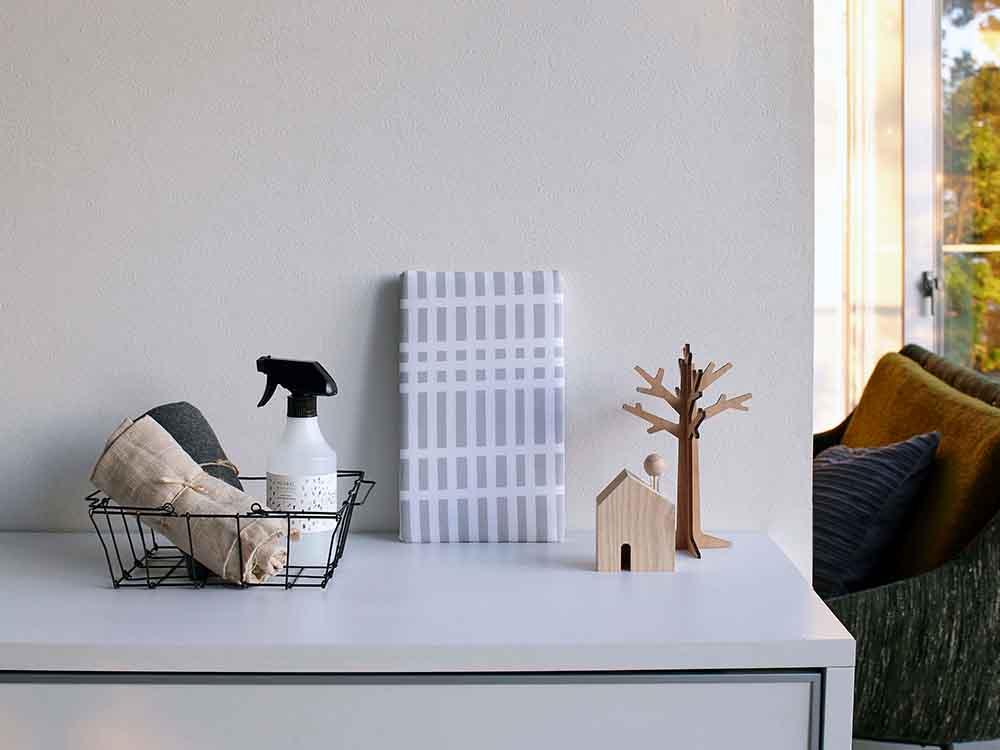 【Yamazaki】北欧風 暮らしの定番 平型ちょい掛けアイロン台 チェックグレー