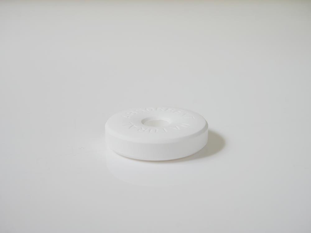 【like-it】調湿保存できる珪藻土リング2P ホワイト