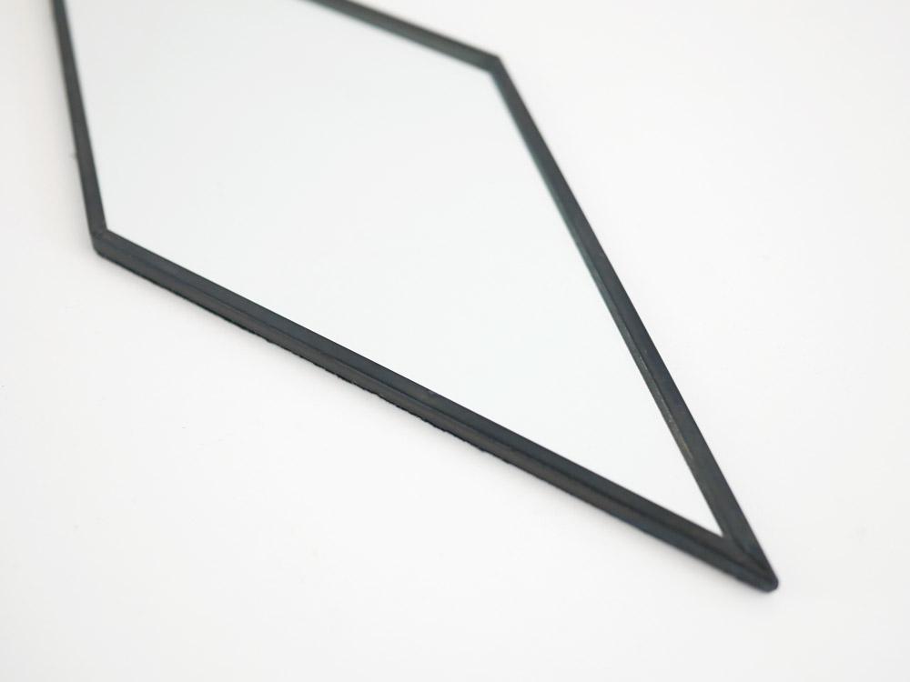 【POSH LIVING】ハンギングミラー  ダイヤ  ブラック