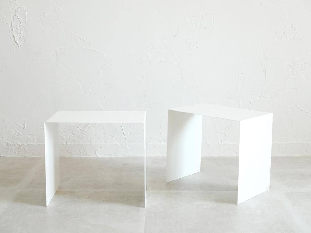 【tower】収納ボックス上ラック 2個組 ホワイト