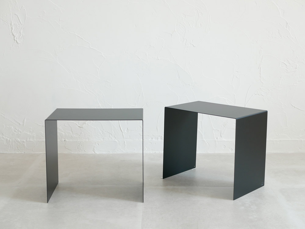 【tower】収納ボックス上ラック 2個組 ブラック