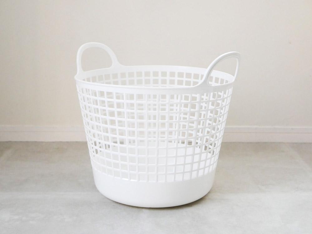 【like-it】ランドリーバスケット 2段 ホワイト